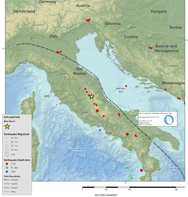 IMAGE: Italian fault line