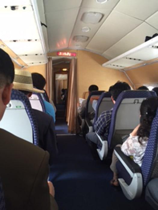 Image: Aboard an Air Koryo jet