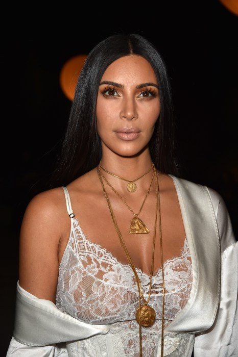 Image: Kim Kardashian at Paris Fashion Week