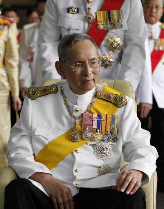 Image: Thailand's King Bhumibol Adulyadej in 2012