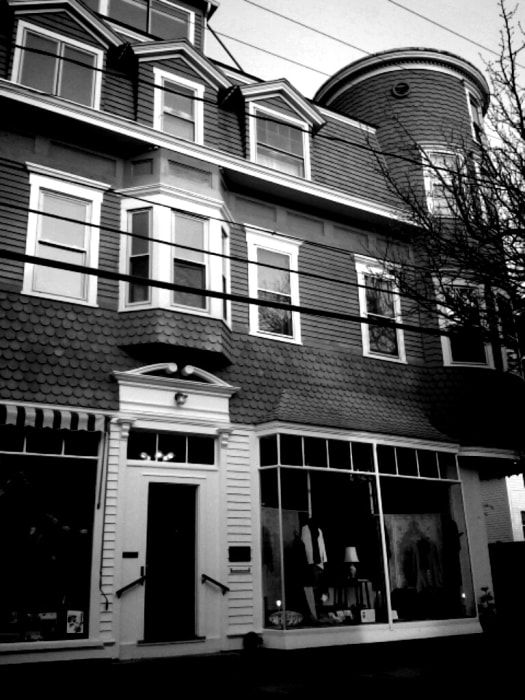 Image: This is an exterior shot of the James Merrill House at 107 Water St. in Stonington Borough, Connecticut