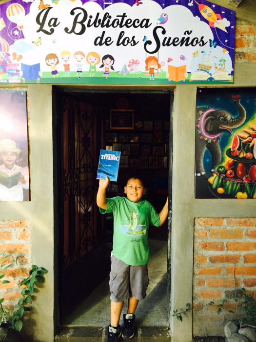 Student at Library of Dreams in San Jacinto, El Salvador.