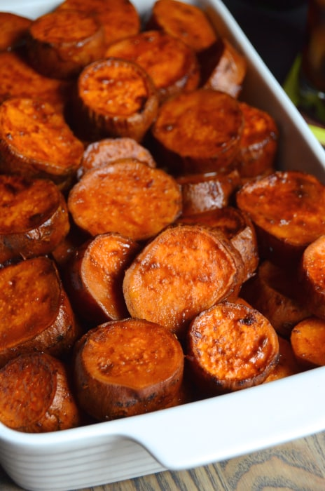 Chipotle & Malta Candied Sweet Potatoes by Alejandra Ramos of Always Order Dessert