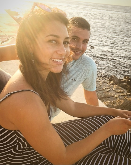 Morgan Radford and her friend Javier on El Malecon in Havana, Cuba.
