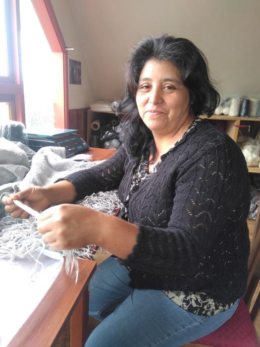 Chilean weaver Veronica Currivil.