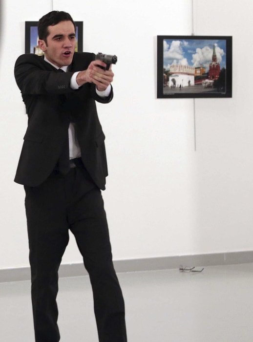 Image: The gunman who shot Andrei Karlov