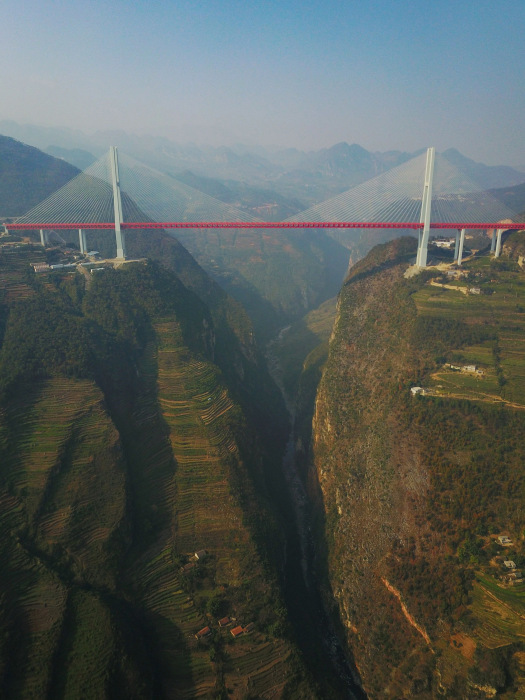 World's Highest Bridge Opens to Traffic in Remote China