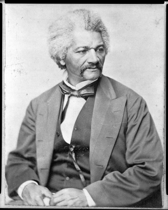 Image: Frederick Douglass sits for a portrait in April 1870
