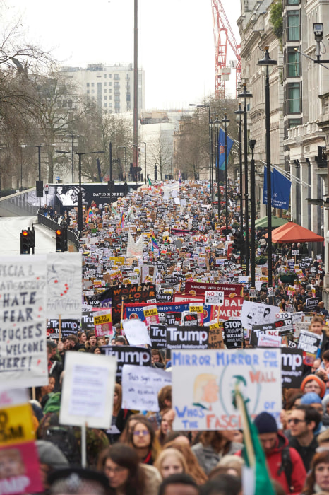 Image: BRITAIN-US-PROTEST