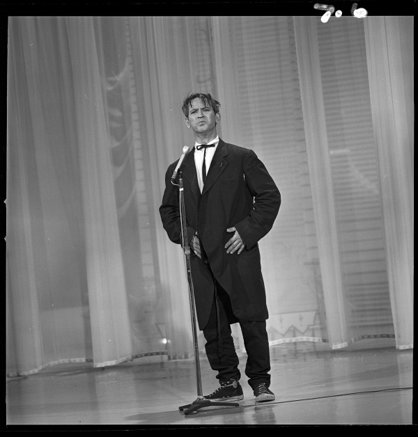 """Image: Irwin Corey appears in """"The Hollywood Palace,"""" which aired on April 23, 1966."""