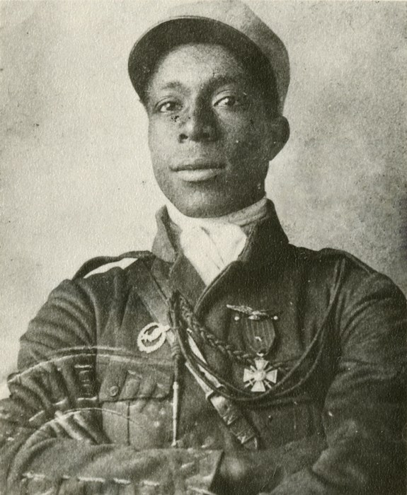 Image: Eugene Jacques Bullard during his flight training.