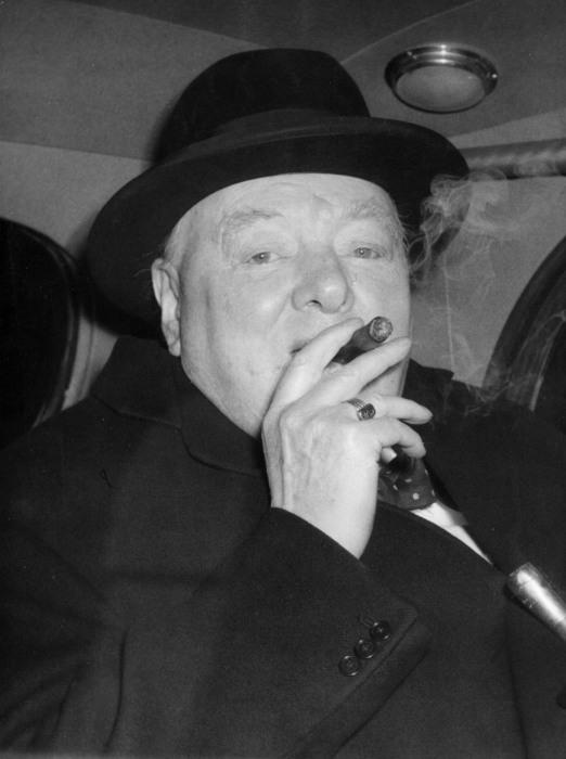 IMAGE: Winston Churchill in 1954