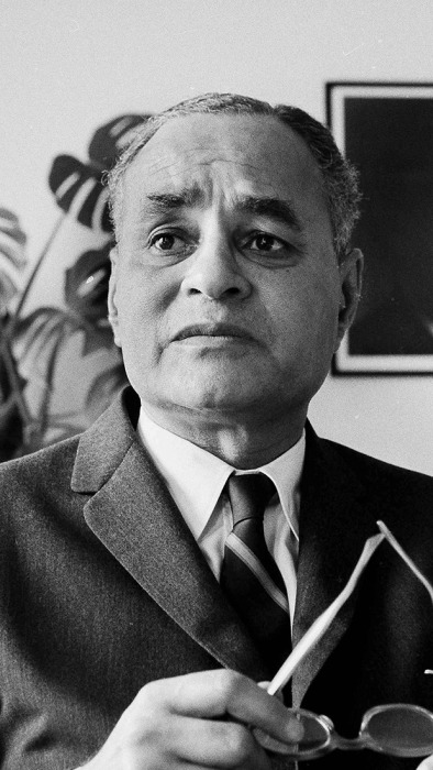 Image: Dr. Ralph J. Bunche is pictured during an interview in New York on June 6, 1963.