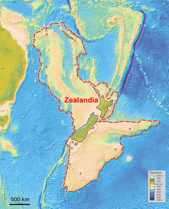 Image: An illustration shows what geologists are calling Zealandia, a continent two-thirds the size of Australia lurking beneath the waves in the southwest Pacific