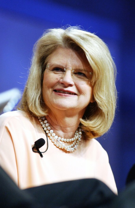 Image: Geraldine Laybourne, chairman and CEO of Oxygen Media Inc., speaks during a panel discussion at the National Cable Telecommunication Association's The National Show conference in New Orleans, Louisiana on May 4, 2004.