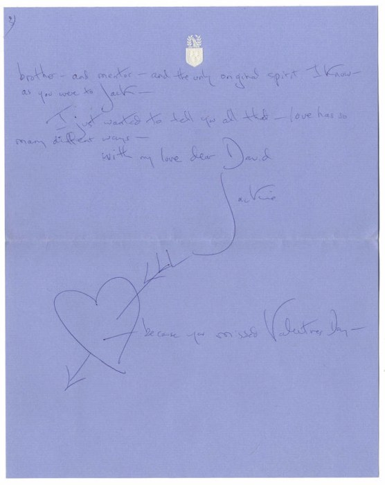 Image: Letters that Jackie O sent to David Ormsby Gore are being auctioned off after they were discovered in Wales at Gore's family home.