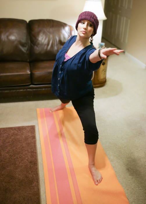 Image: Amy Schnitzler of Rochester, NY, exercises to battle the fatigue caused by breast cancer treatment