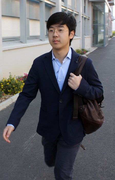 Image: Kim Han Sol pictured attending college in France in 2013.