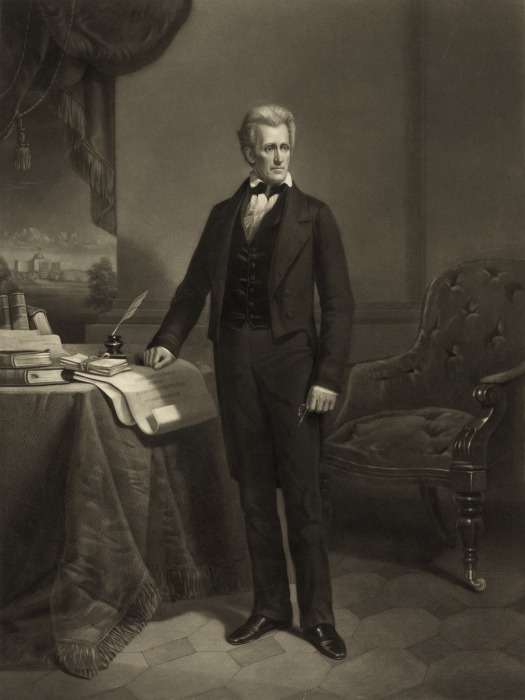 Image: Andrew Jackson in a portrait circa 1860