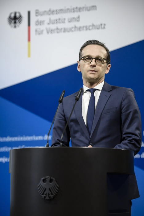 Image: Pressestatement of German Justice Minister Heiko Maas