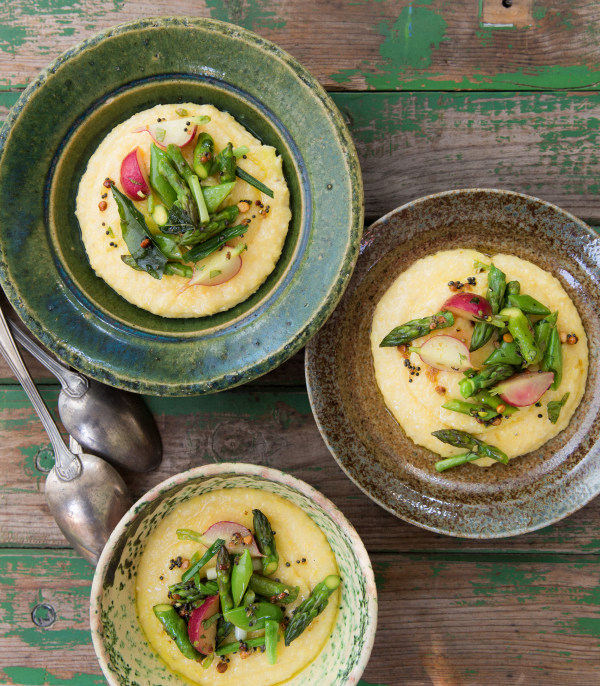 Chitra Agrawal's Spiced Spring Vegetable and Coconut Polenta