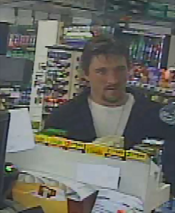 Image: A surveillance still shows Joseph Jakubowski, who police in Wisconsin are on the hunt for.