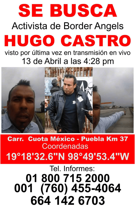 Image: Hugo Castro missing poster