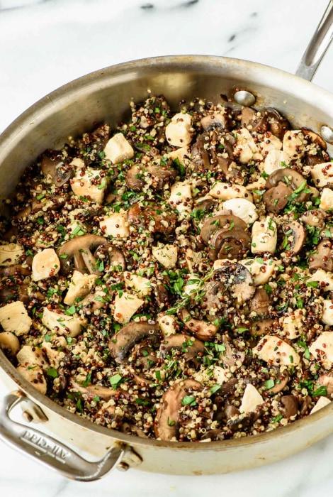 Image: Best Mushroom Chicken and Quinoa Recipe