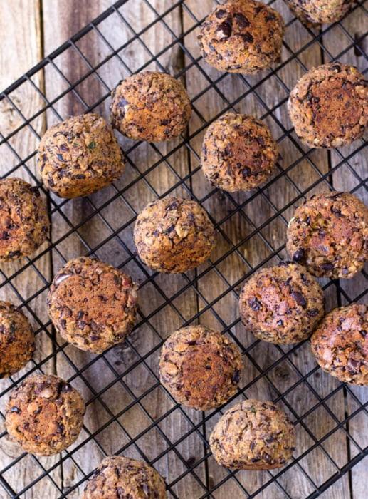 image: Black Bean Meatless Balls top view