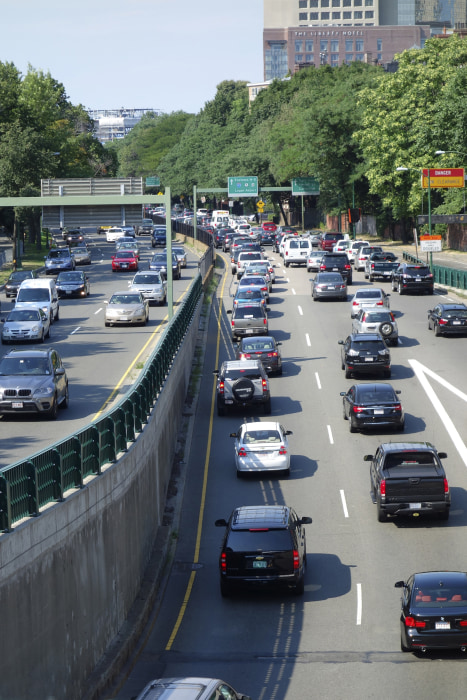 Image: Traffic, Storrow Drive, Boston