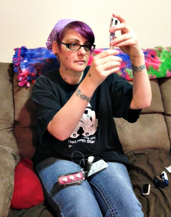 Amy using insulin