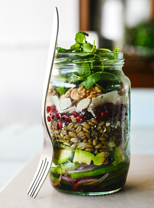 Image: Balsamic Pomegranate Rocket Salad Jar