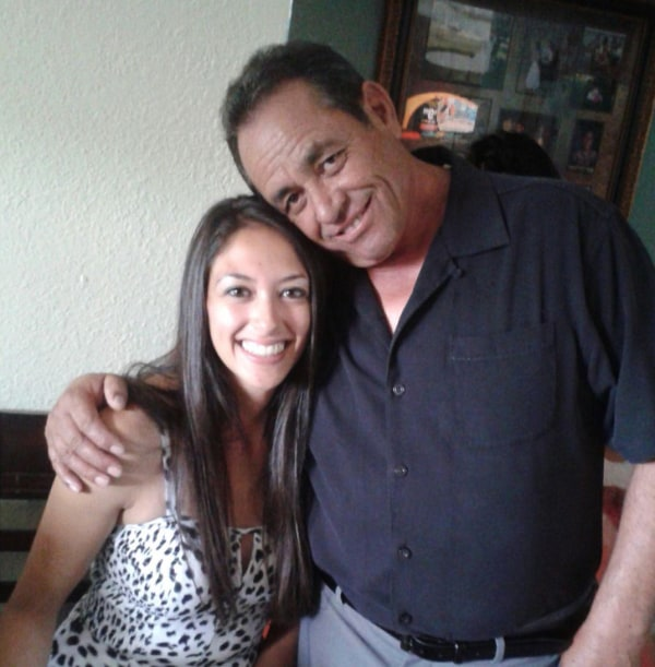 Image: Raul Romero with his daughter Lora
