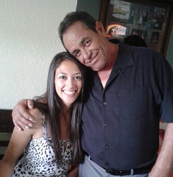 Image: Raul Romero with his daughter Lora