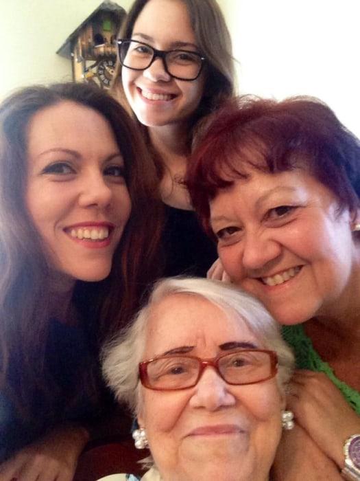 Jenny Lorenzo and family members.