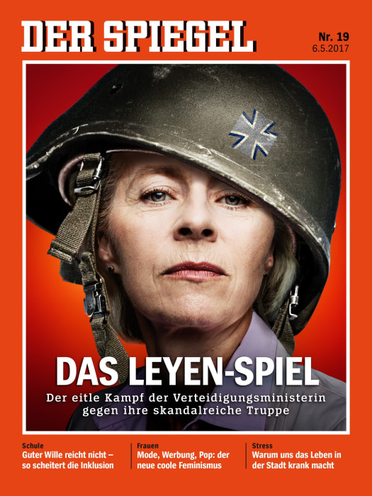 Image: Defense Minister Urseula von der Leyen on the cover of German magazine
