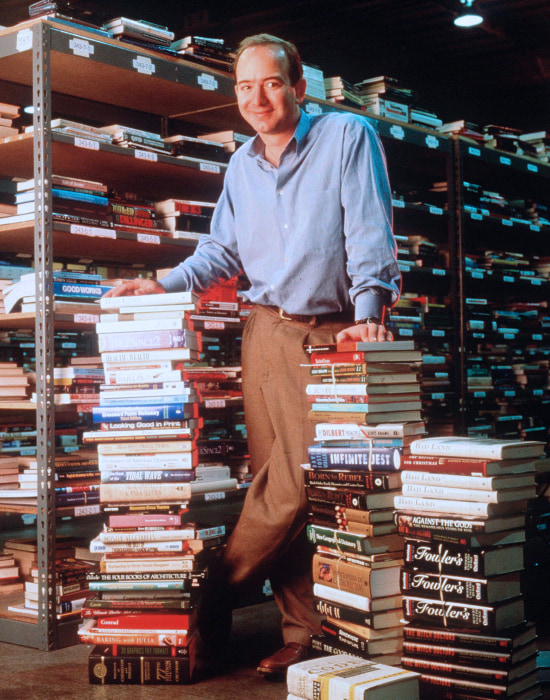Image: Amazon.com founder and CEO Jeff Bezos poses for a portrait in Seattle