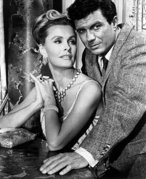 Image: Actress Dina Merrill and actor Cliff Robertson