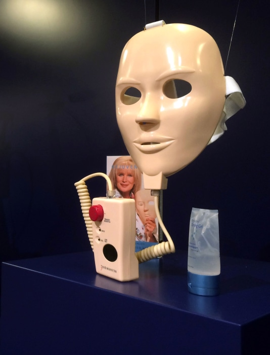 Image: The Rejuvenique electric beauty mask on display at the Museum of Failure in Helsingborg