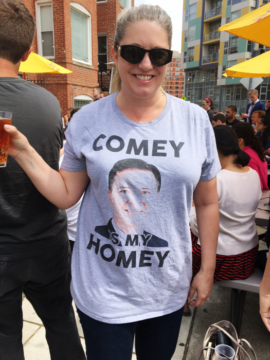 Image: People in DC watching the Comey hearing at bars