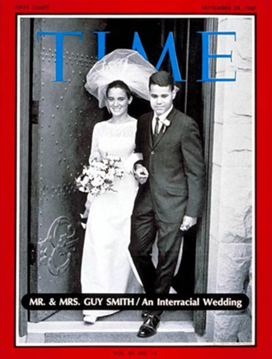 Image: Time magazine's Sept. 29, 1967 cover of Peggy Rusk, the daughter of then Secretary of State Dean Rusk to Guy Smith