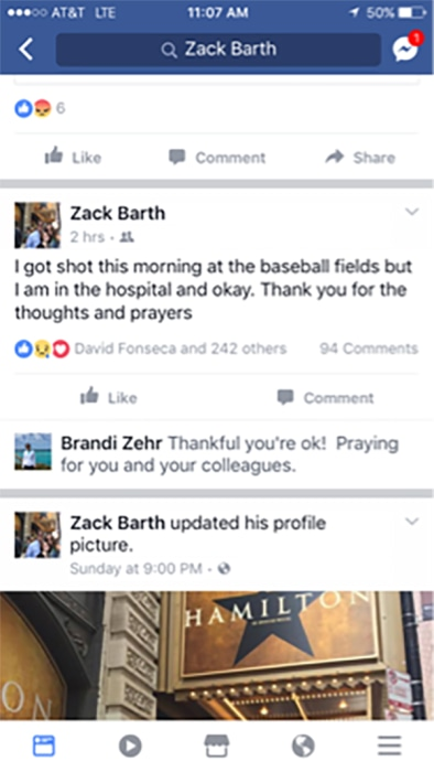 Image: Zach Barth Facebook status