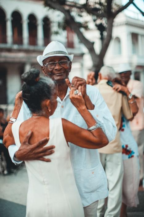 Image: Cuban Couple Dancing to Street Music in Viejo Havana Cuba