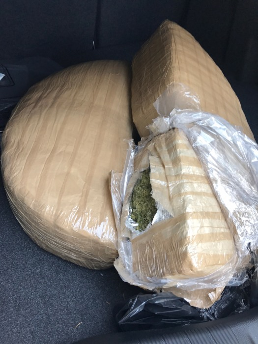Image: Marijuana found hidden in a Ford Fusion