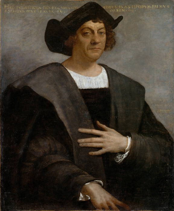 Image: Portrait of Christopher Columbus, 1519