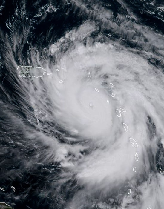 Image: Hurricane Maria at 16:15 UTC(12:15 EDT) on Sept. 19, 2017.
