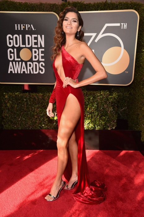 Image: Blanca Blanco attends The 75th Annual Golden Globe Awards
