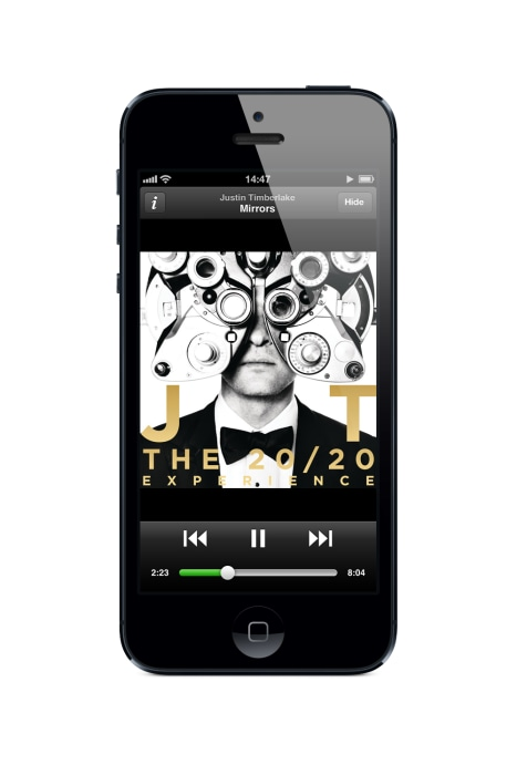 Spotify's current mobile app for iOS.