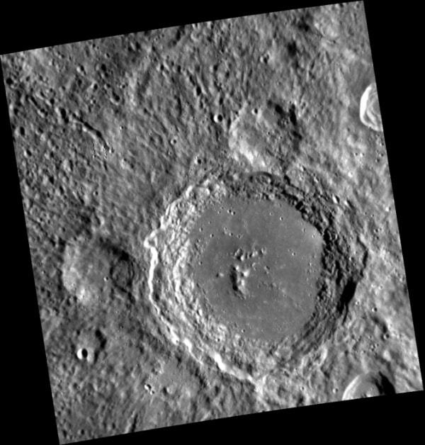 IMAGE: Mercury's Lennon crater, named for Beatle John Lennon
