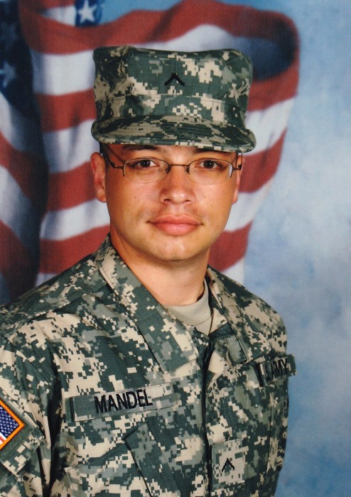 Ari Mandel served in the U.S. Army from 2007 to 2011.